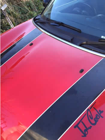 Bonnet dent repair